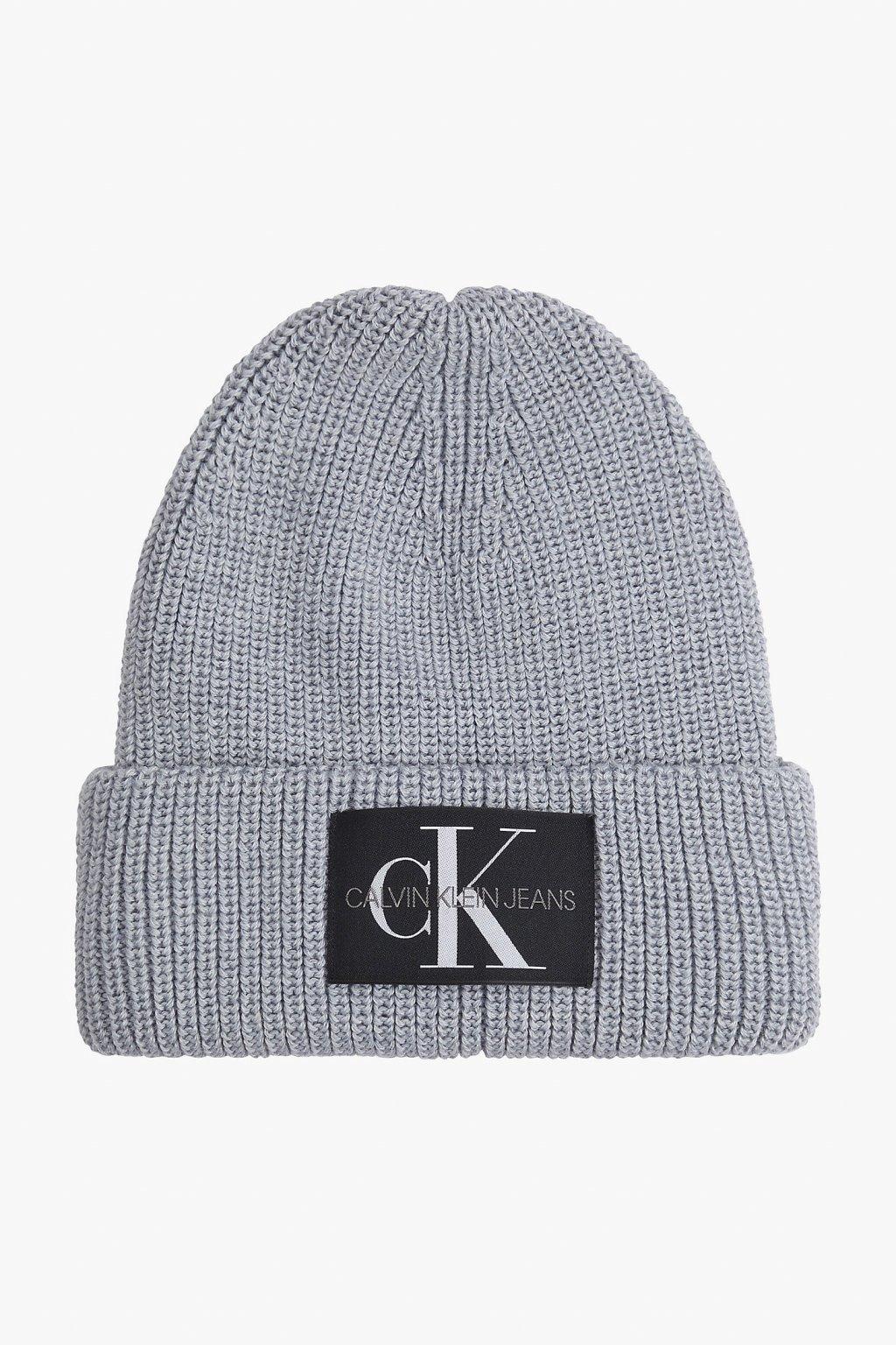 Calvin Klein Jeans čepice dámská- šedá