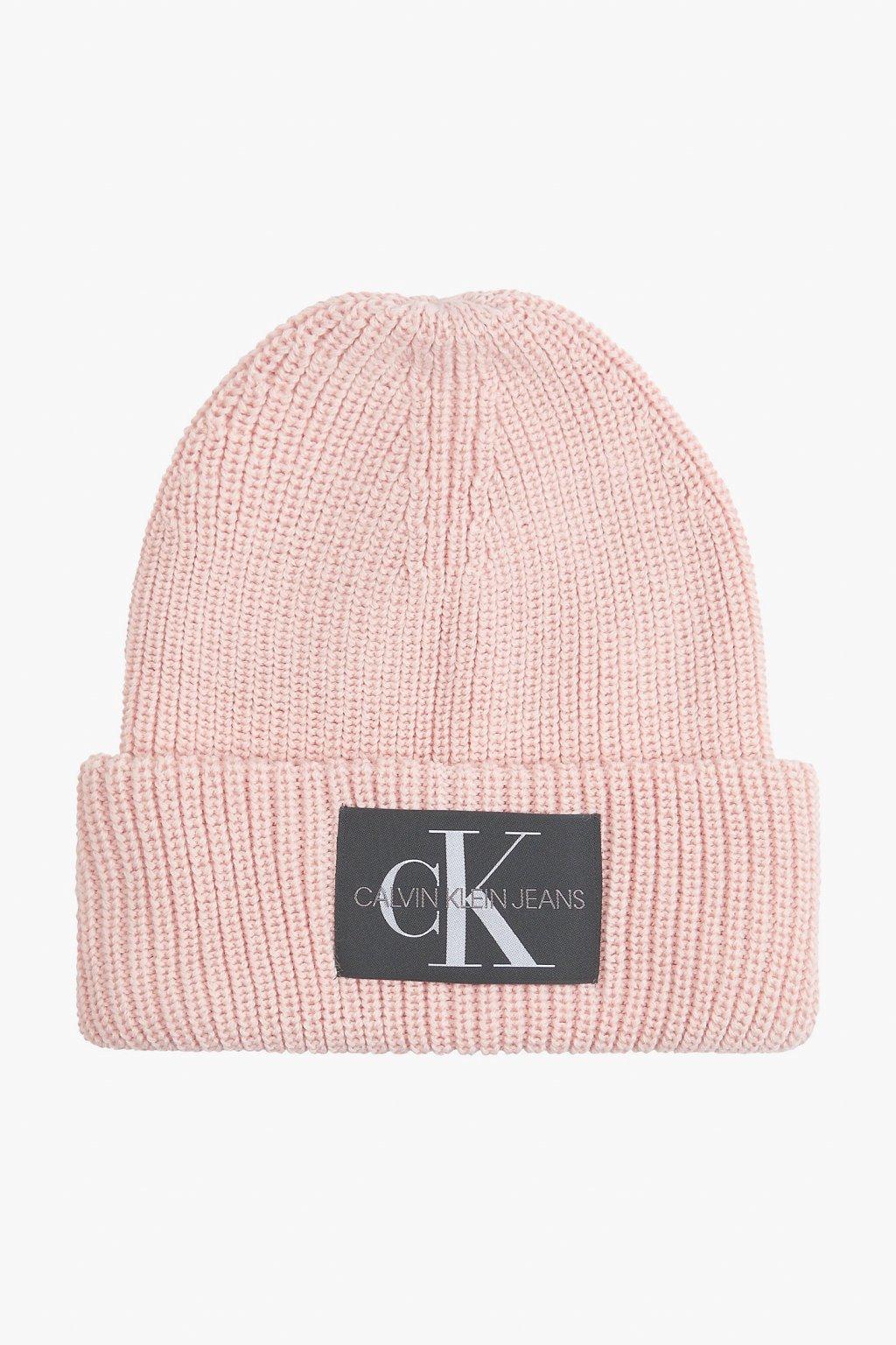 Calvin Klein Jeans čepice dámská- růžová