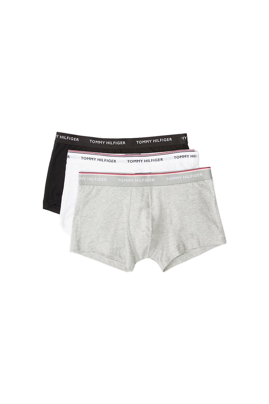 Tommy Hilfiger Boxerky Premium 3 balení - černá, bílá, šedá