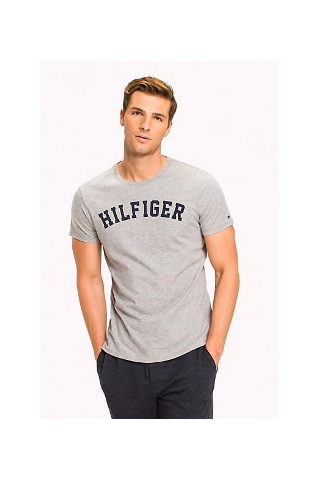 Tommy Hilfiger pánské Logo Tričko - šedé