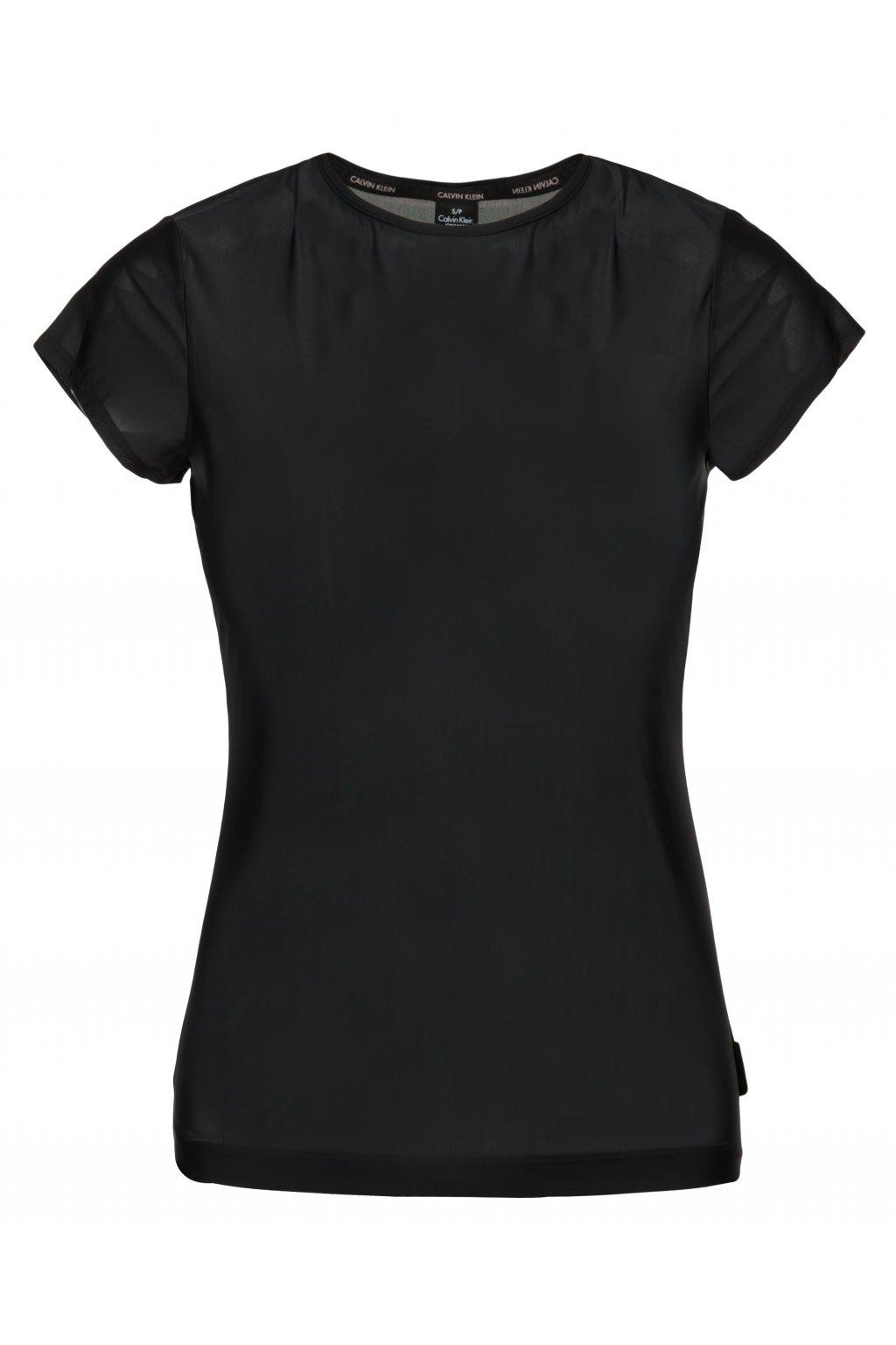 Calvin Klein Sheer Tričko dámské - černé