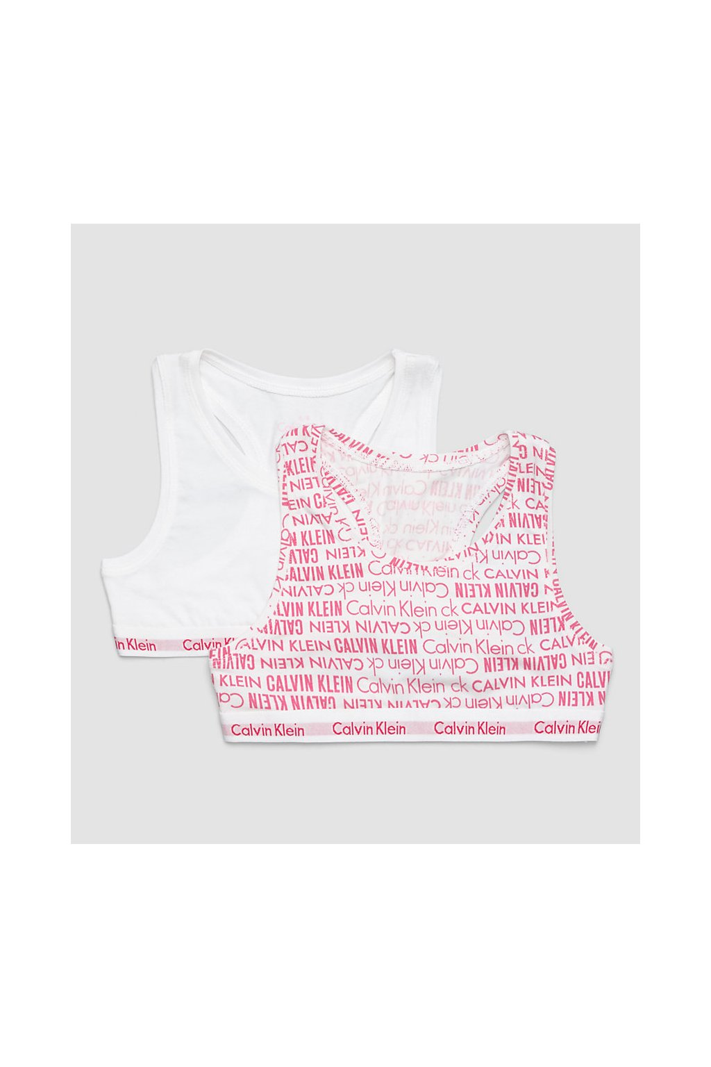 PRO DĚTI! Calvin Klein 2 balení Girls Bralette - bílá, růžová