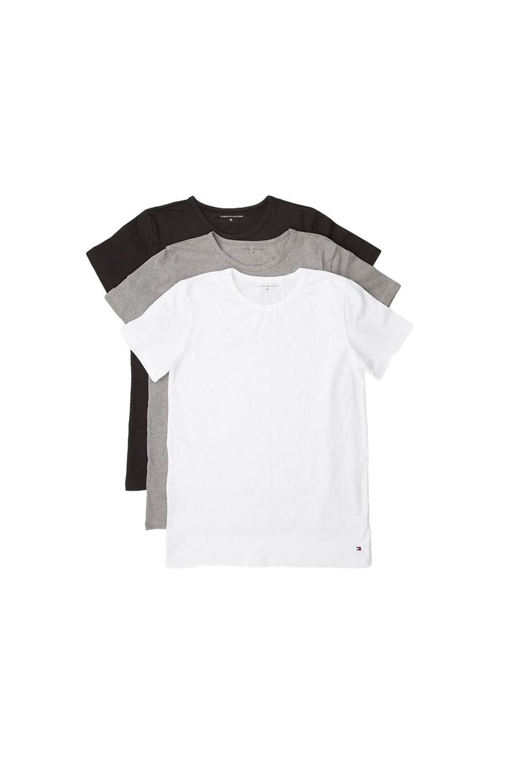 Tommy Hilfiger 3 balení Triček Icon - černá, šedá, bílá