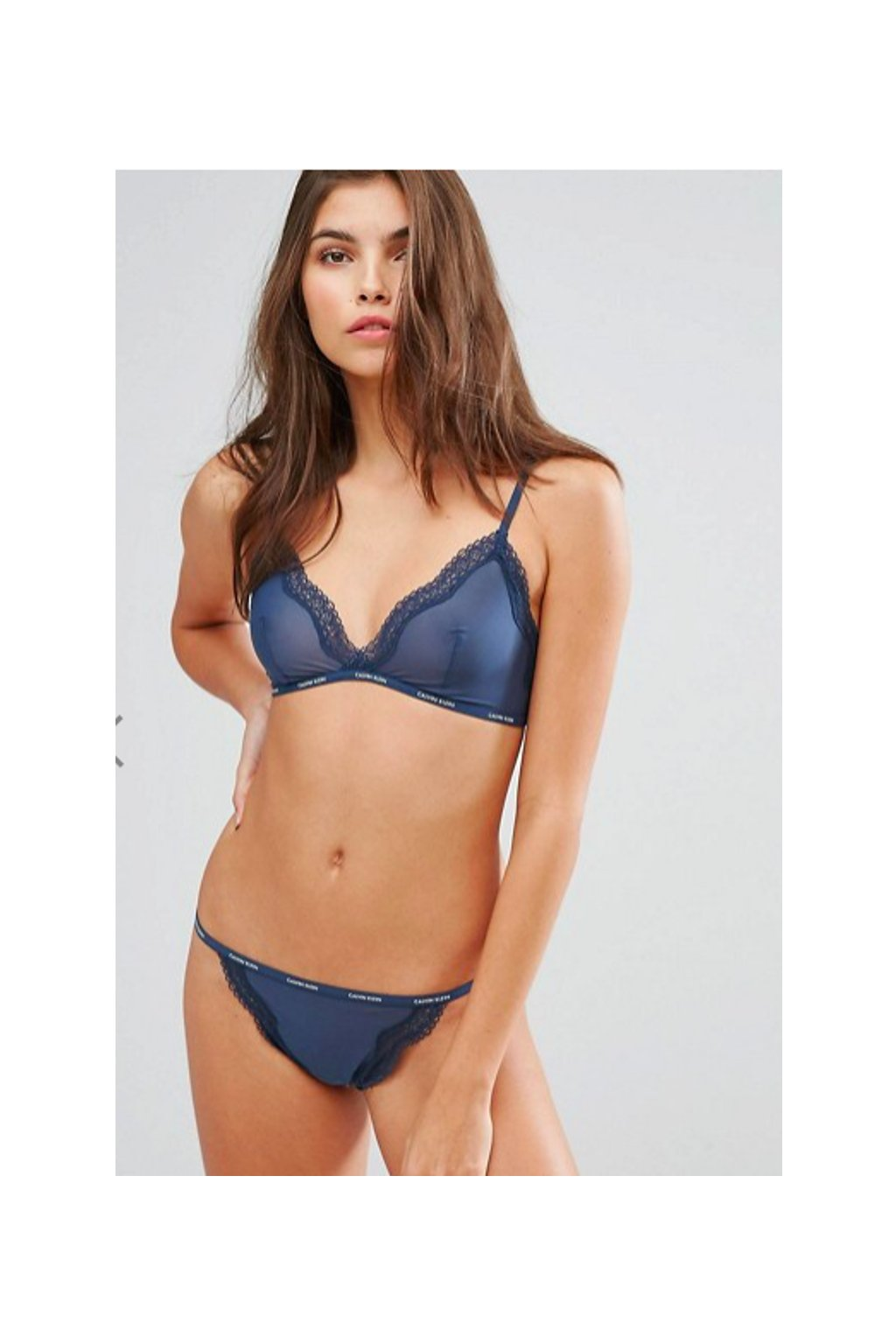 Calvin Klein Sheer Marquisette Triangle Podprsenka + tanga
