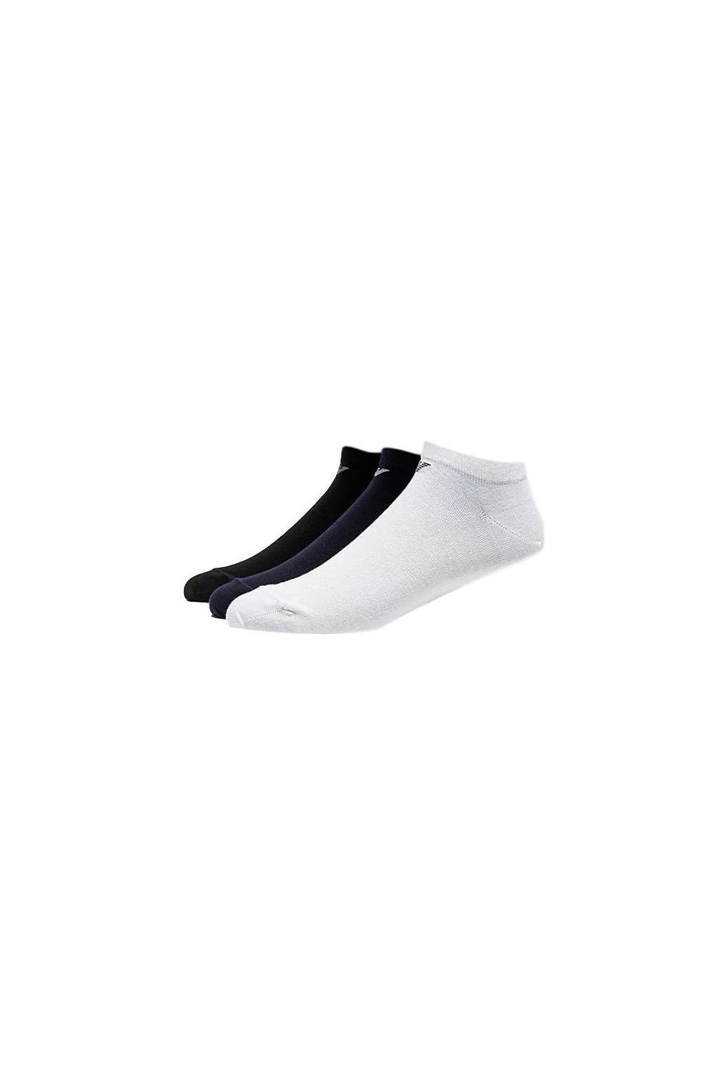 Emporio Armani pánské ponožky 3-balení - bílá/černá/modrá