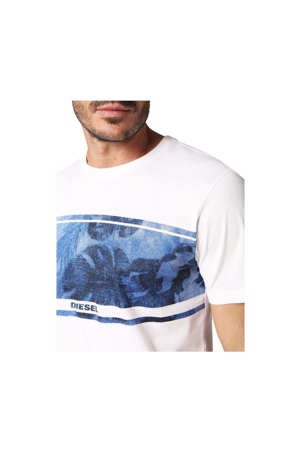 Diesel Logo Tričko - bílé