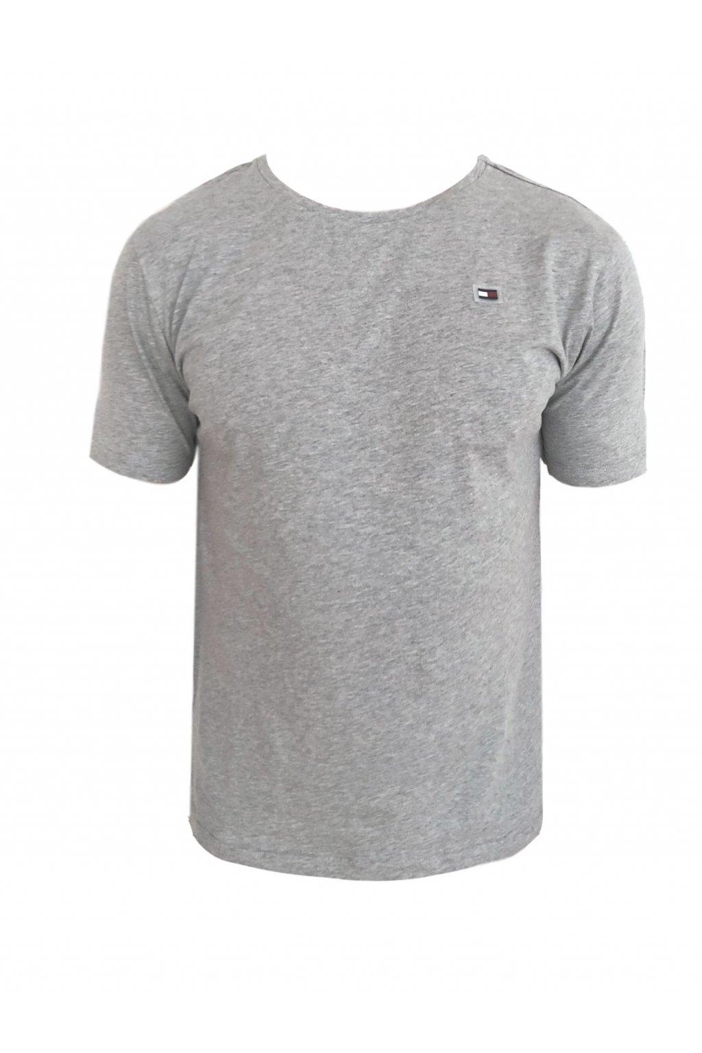 Limited! Tommy Hilfiger Better Cotton Tričko Icon - šedé