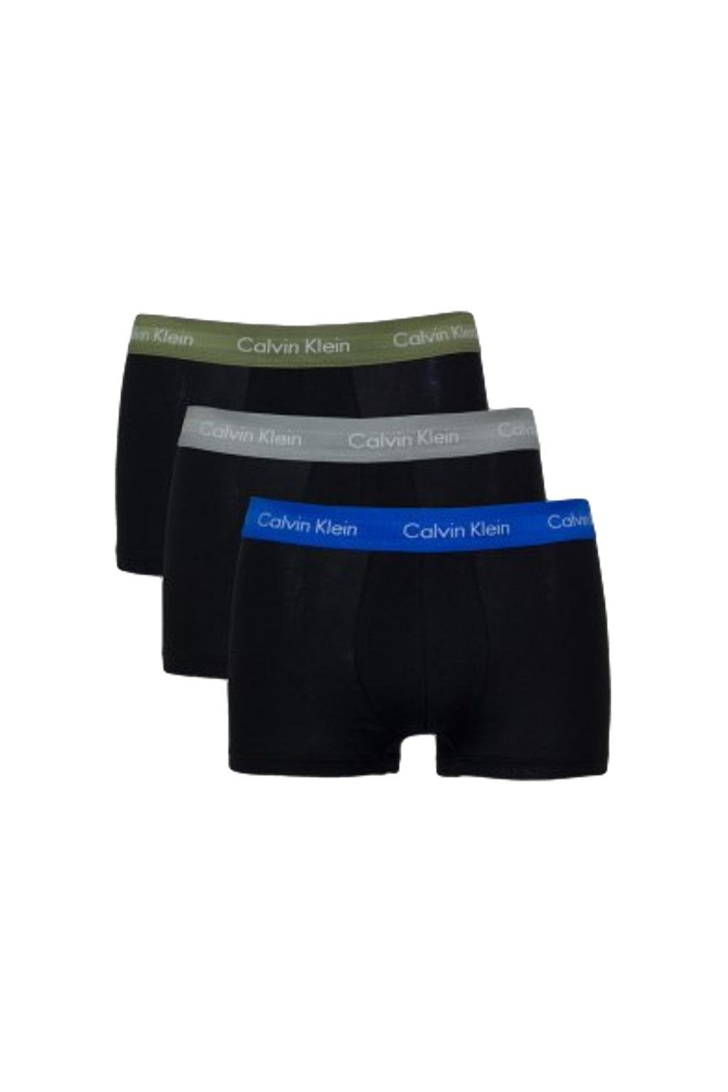 LIMITKA! Calvin Klein Boxerky Premium 3 balení - modrá/šedá/khaki