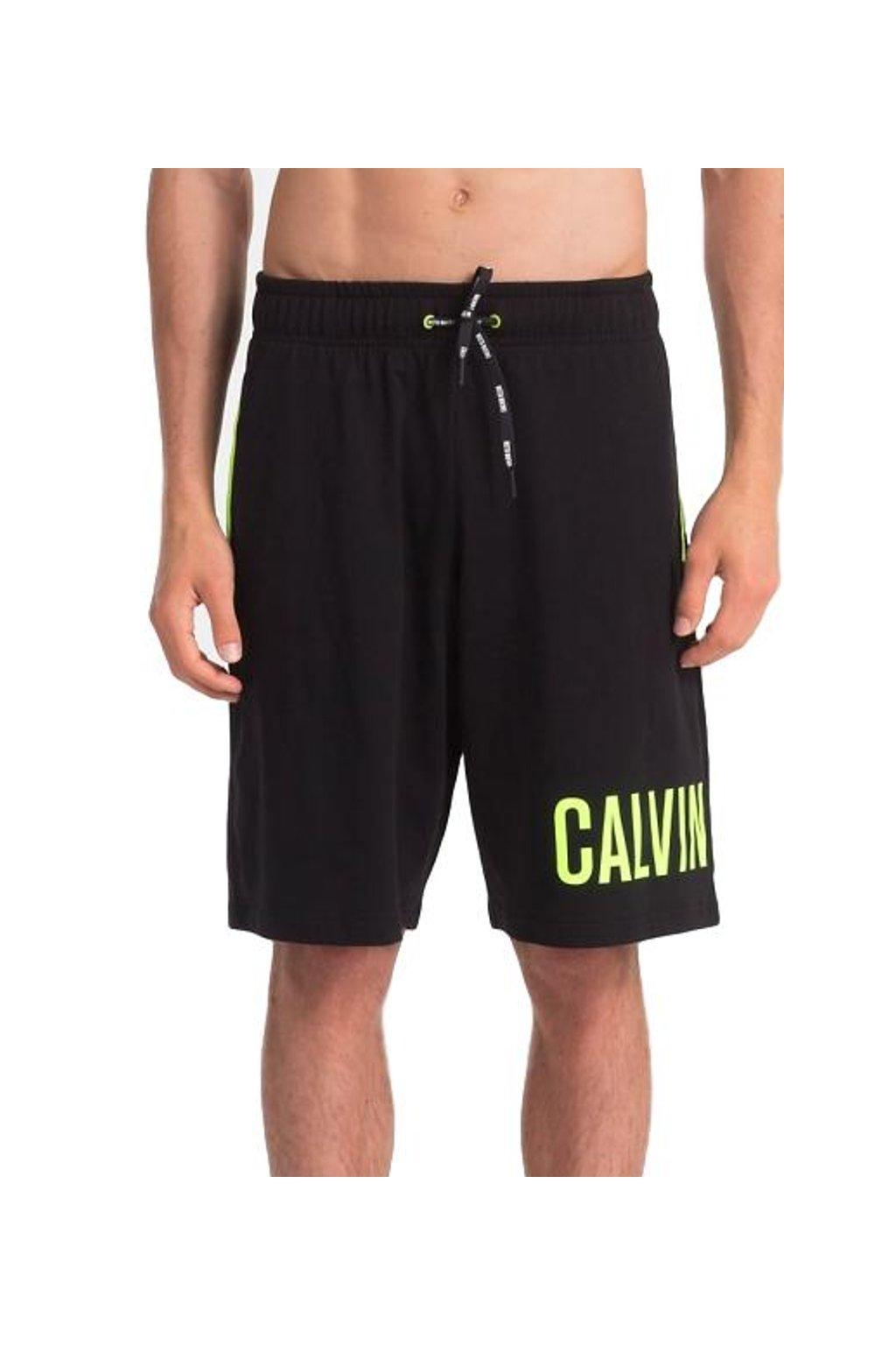 Calvin Klein jersey šortky - černé s nápisem