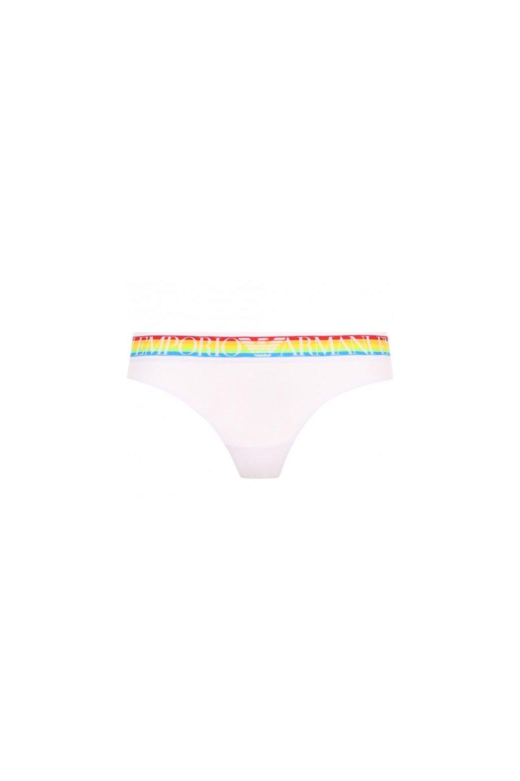 Emporio Armani LogoBand tanga - white rainbow