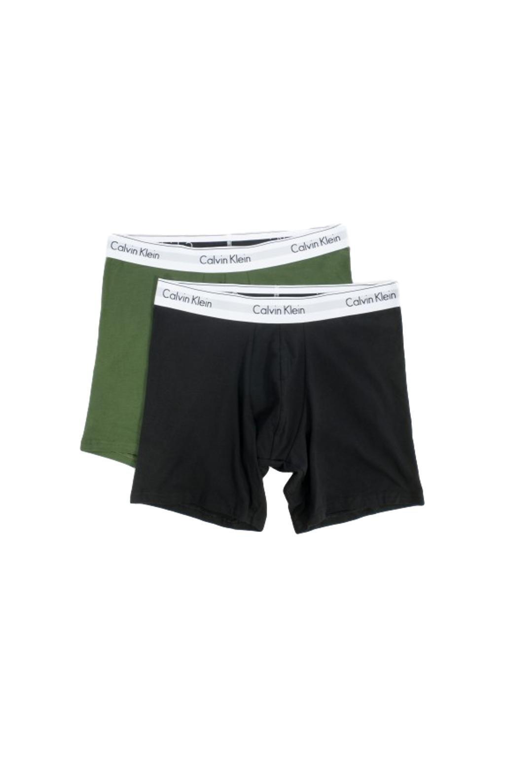 Calvin Klein Modern Cotton boxerky 2- balení - černá/khaki