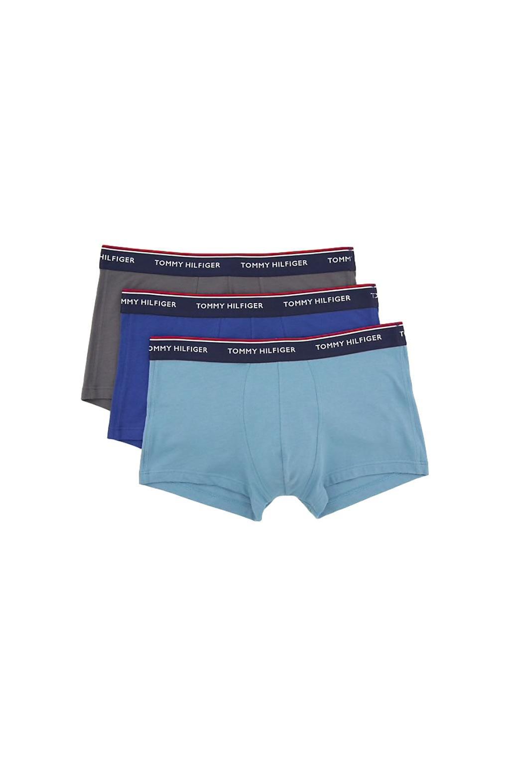 Tommy Hilfiger Boxerky Premium 3 balení - modrá/šedá/modrá