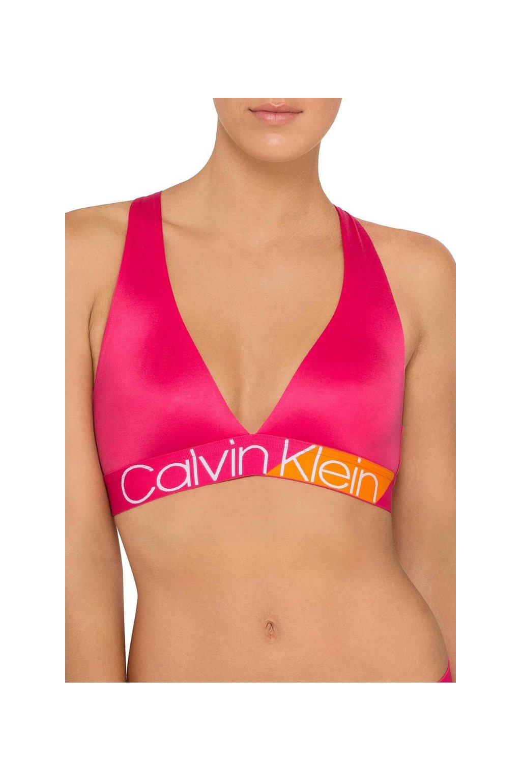 Calvin Klein Bold Accents Unlined Braletka - nora/ bell orange