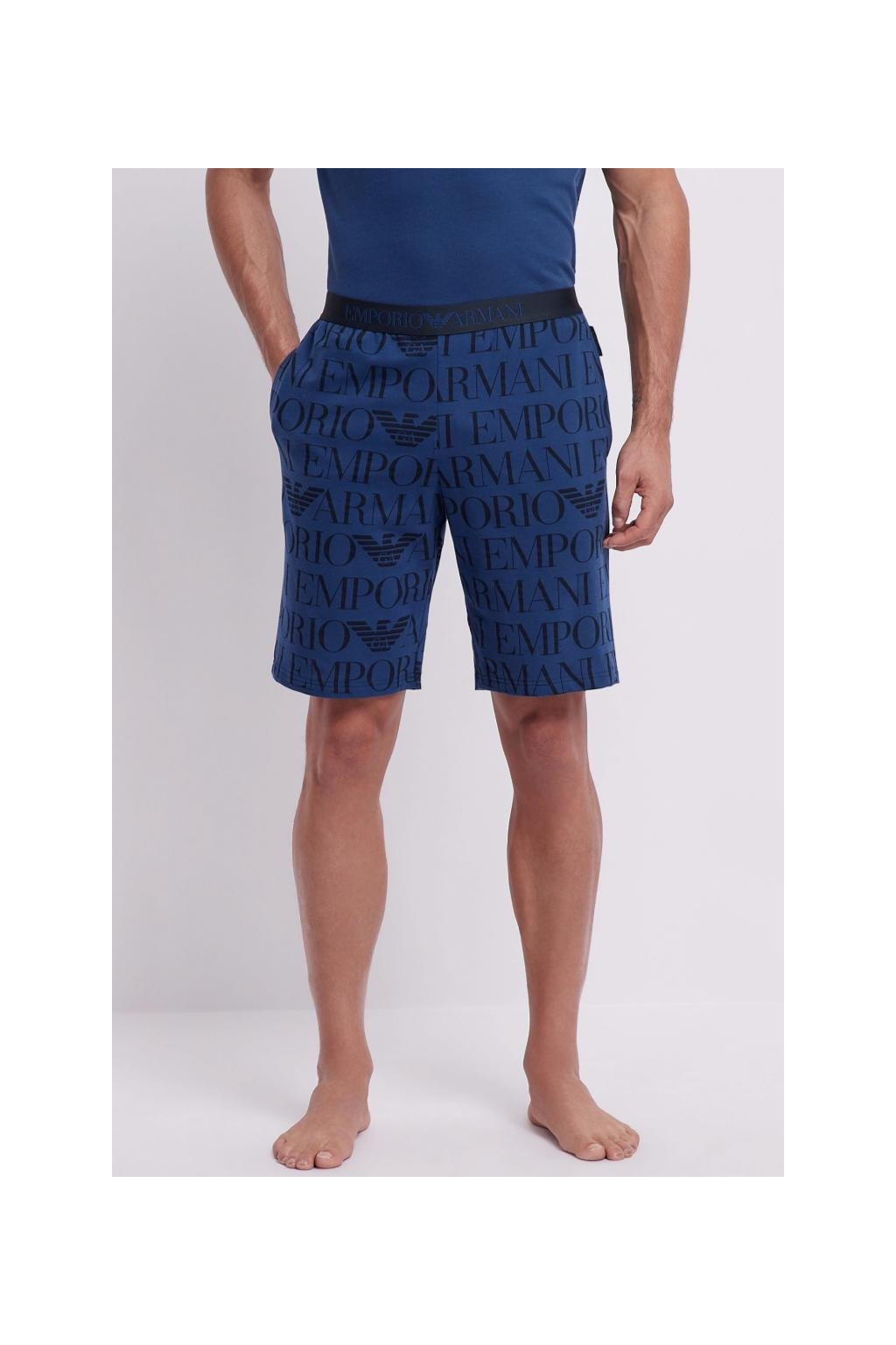 Emporio Armani LogoManiac šortky - modré