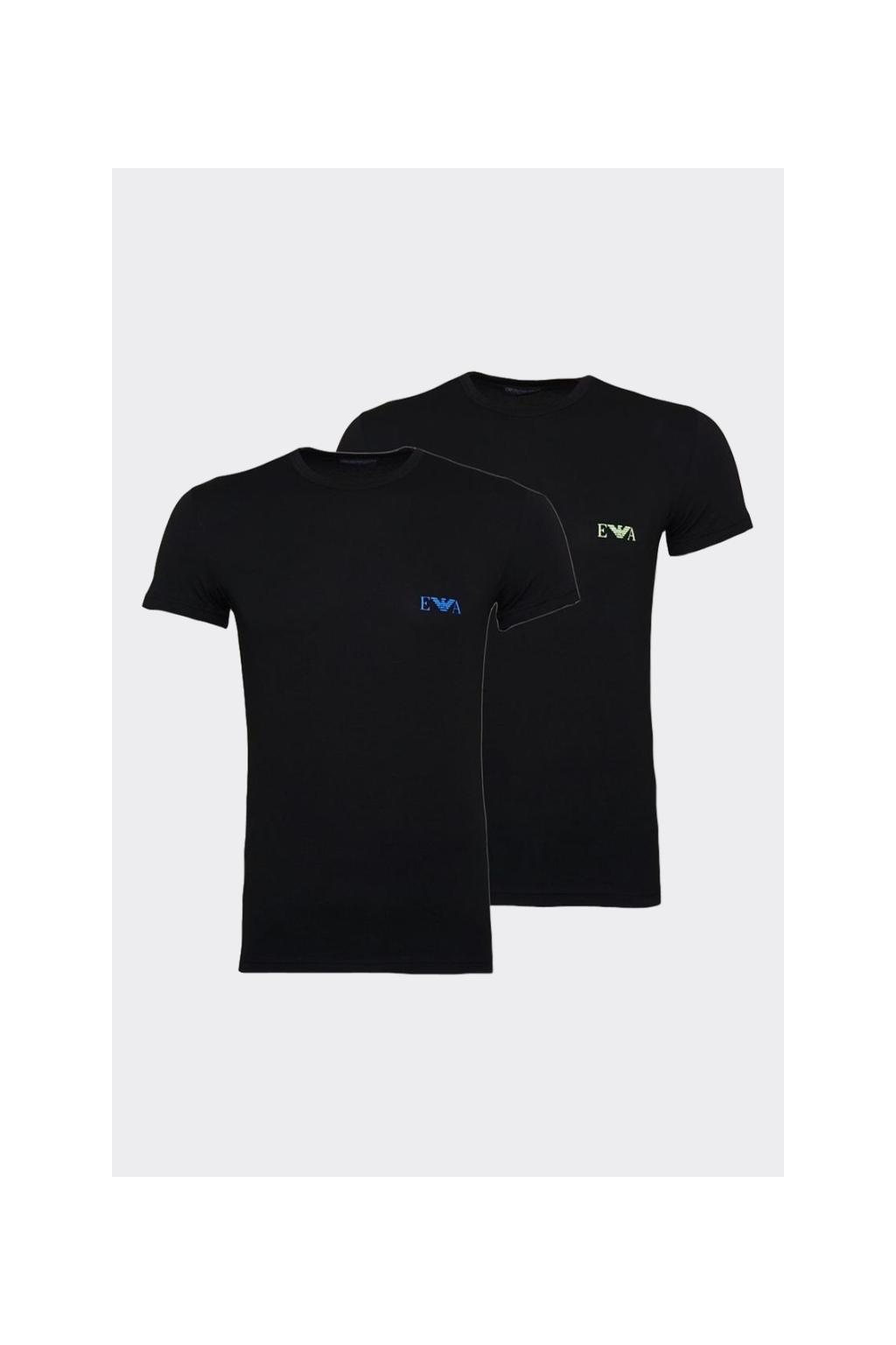 Emporio Armani Monogram trička 2-balení -černá