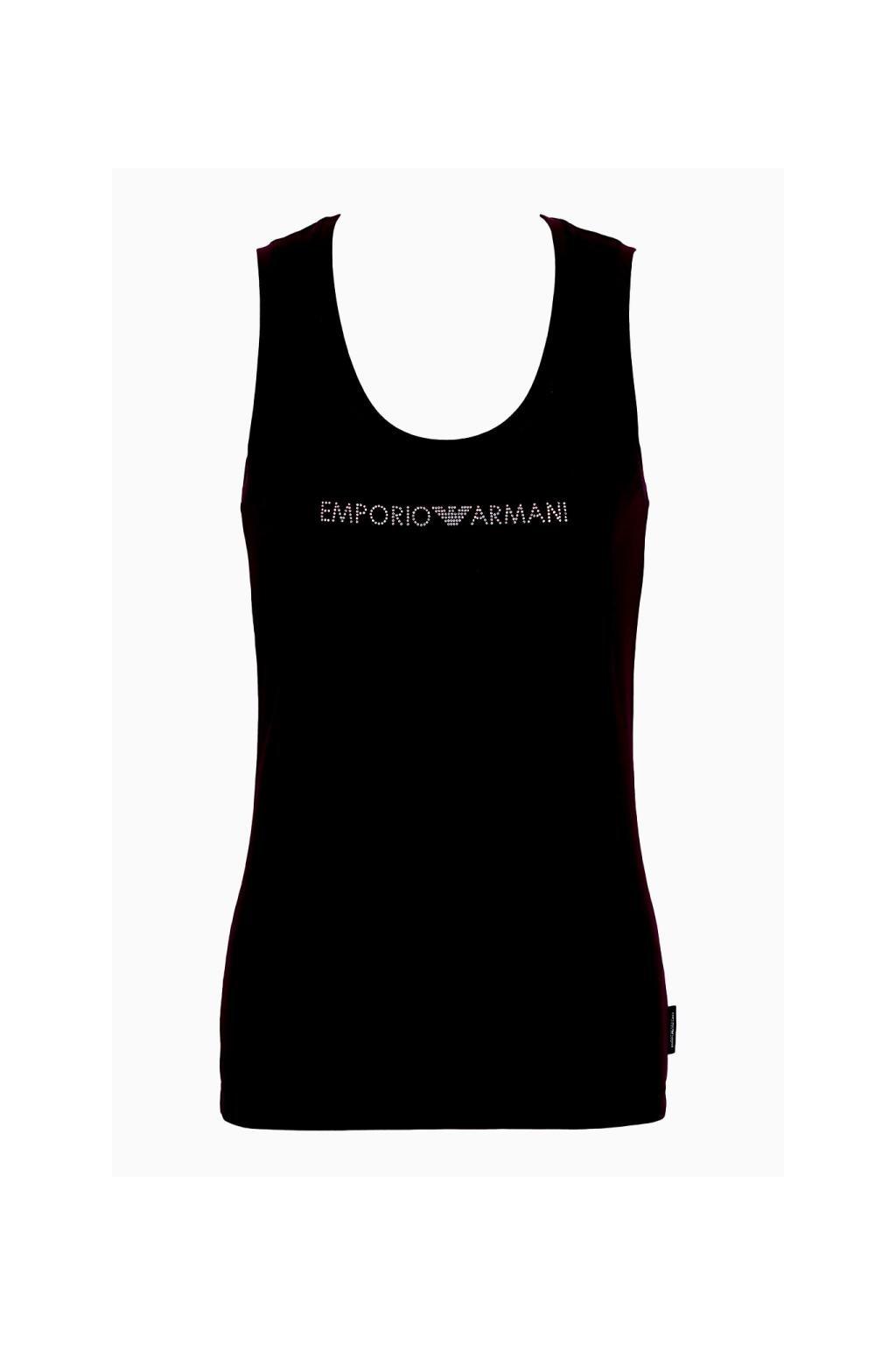 Emporio Armani Visibility Cotton tílko - black