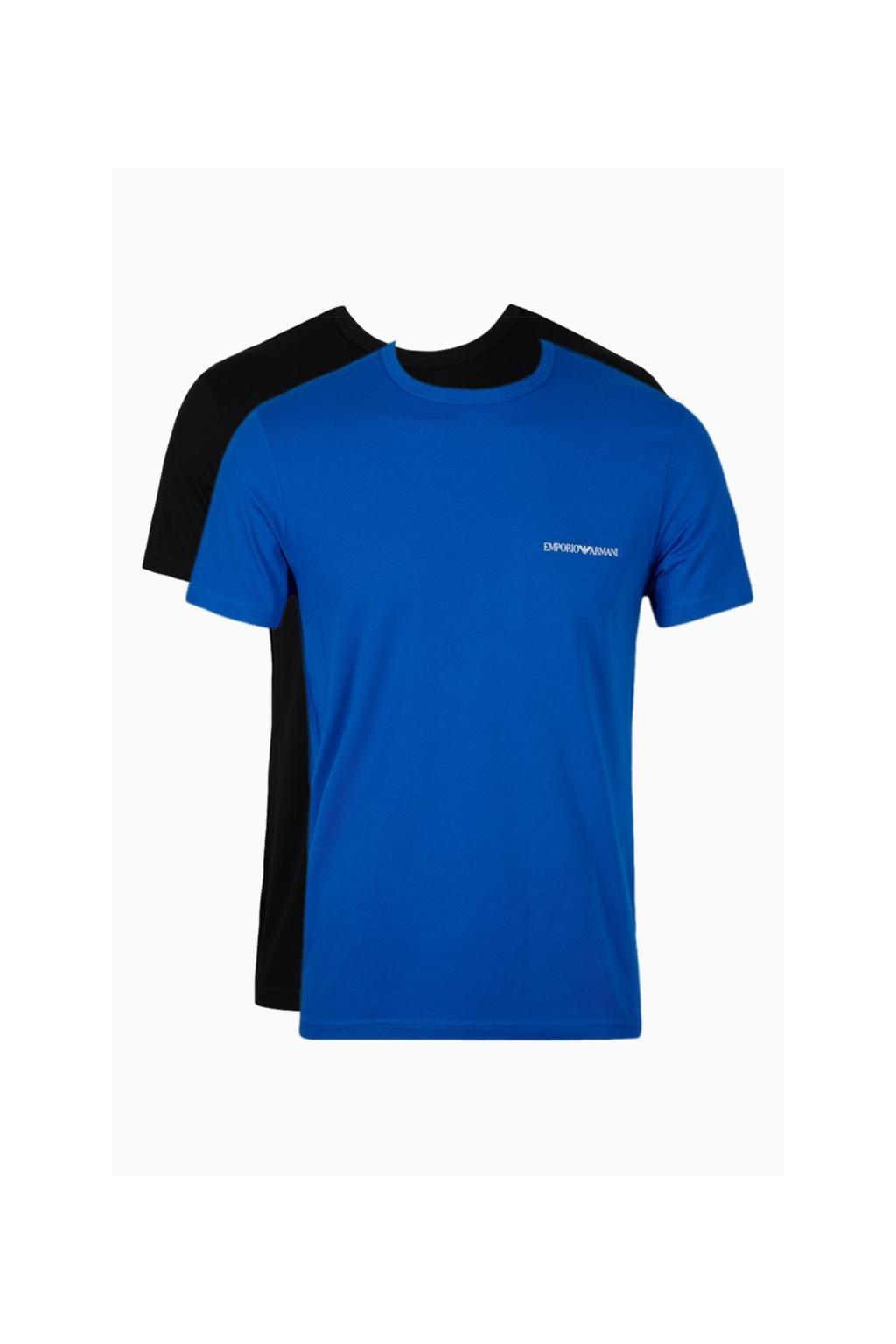 40157885bbc7 Emporio Armani Monogram trička 2-balení - černá modrá - BePink.cz