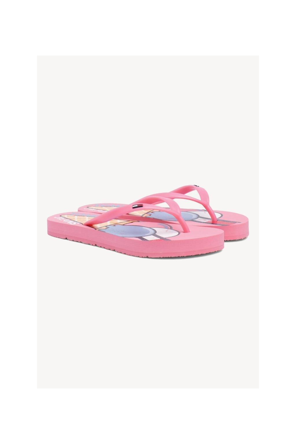 Tommy Jeans ice cream žabky - geranium pink