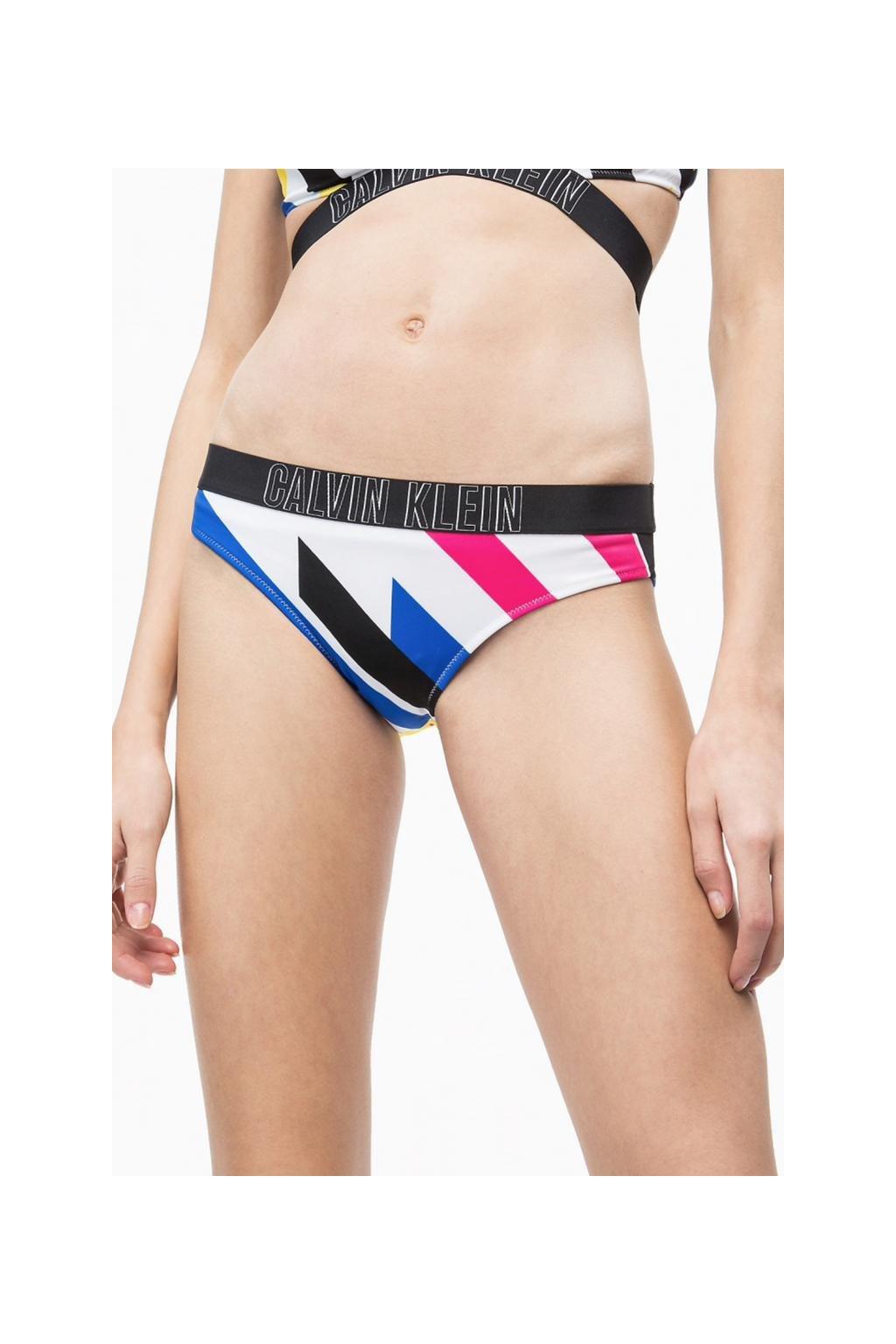 CK classic bikini Intense Power plavky - Stripe