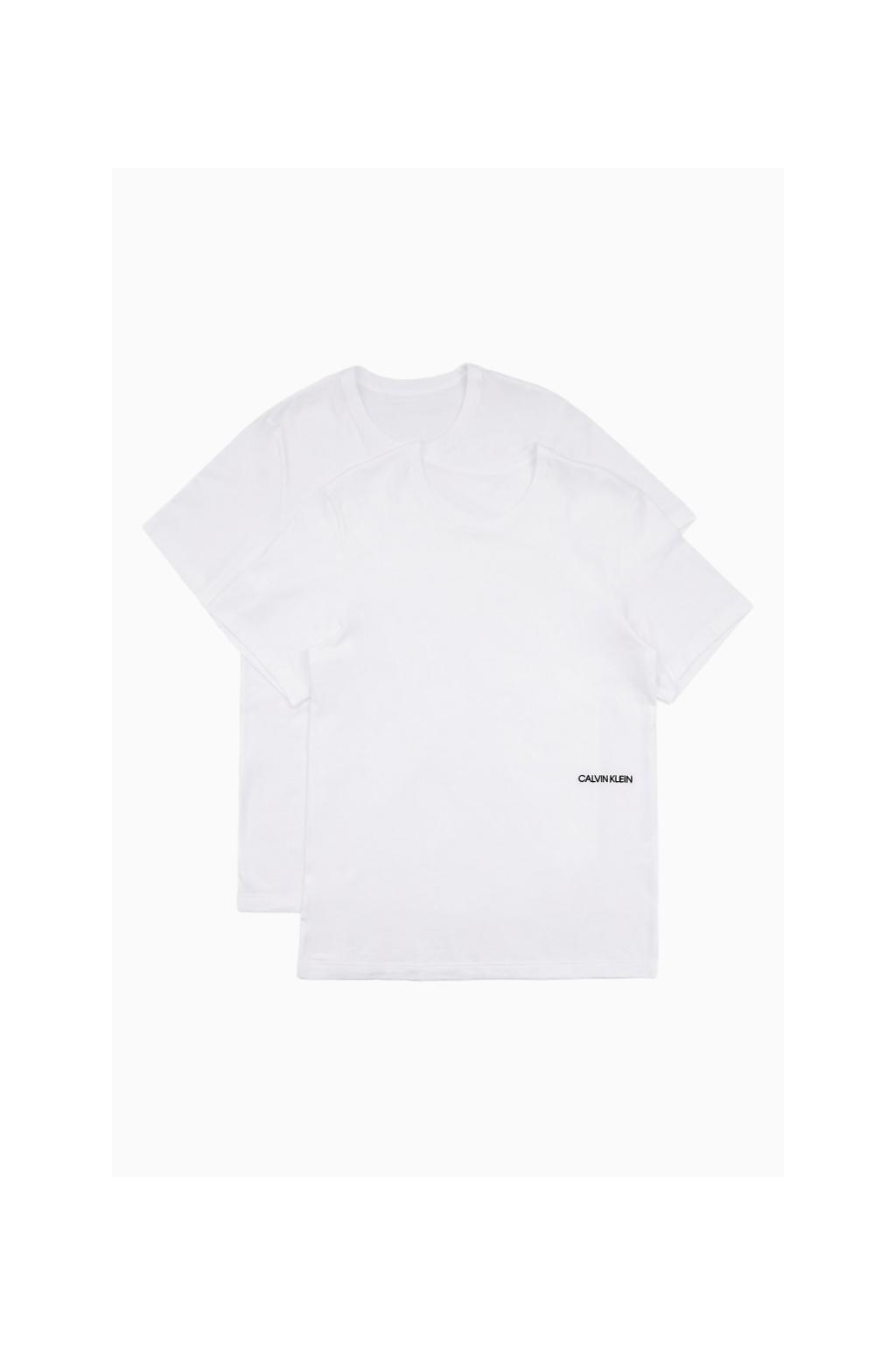 Calvin Klein Unisex trička 2 - balení - bílá