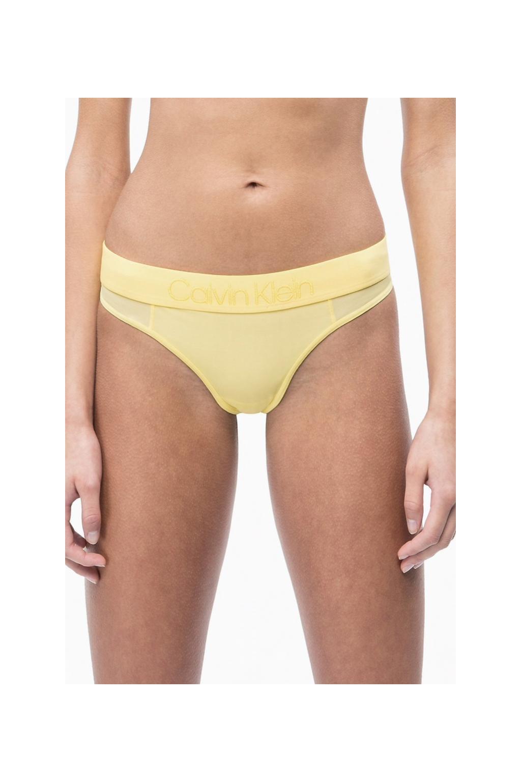 Calvin Klein Tonal Logo tanga - žlutá