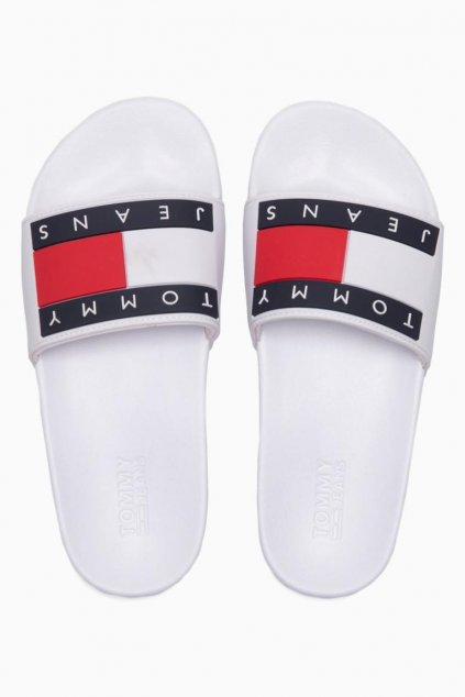 Tommy Jeans pantofle dámské- bílé