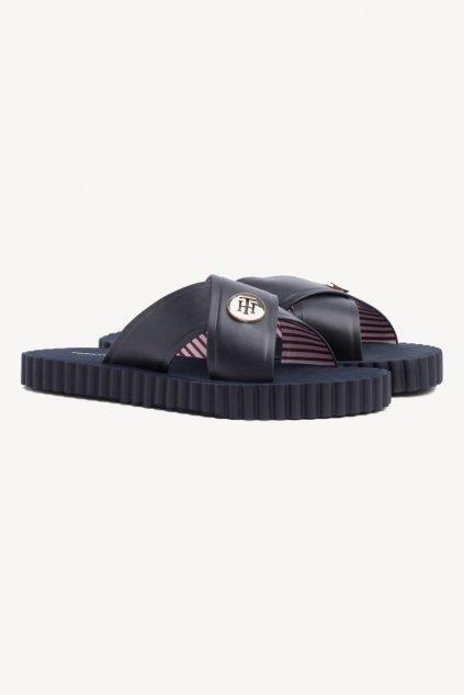 Tommy Hilfiger beach pantofle - tmavě modré