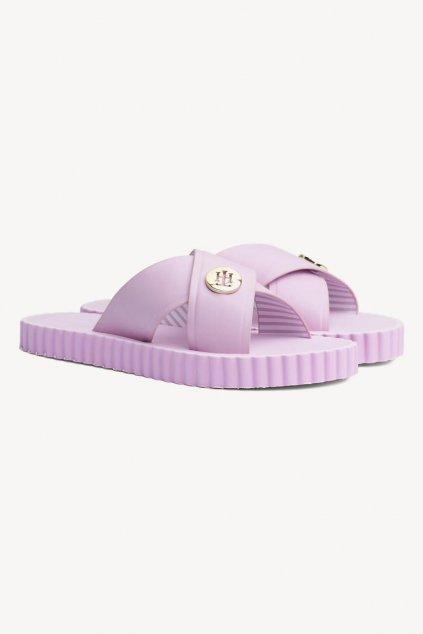 Tommy Hilfiger beach pantofle - pink lavender