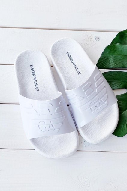 Emporio Armani pantofle - bílé