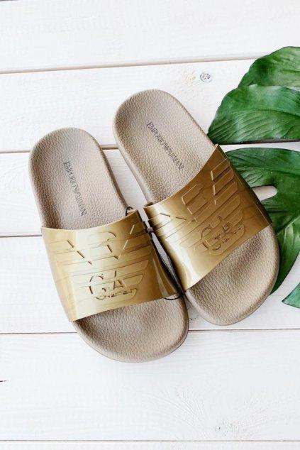 Emporio Armani pantofle - zlaté