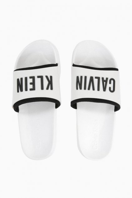 Calvin Klein pantofle - bílé