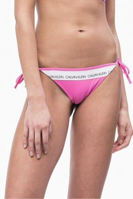 Calvin Klein string cheeky plavky- phlox pink
