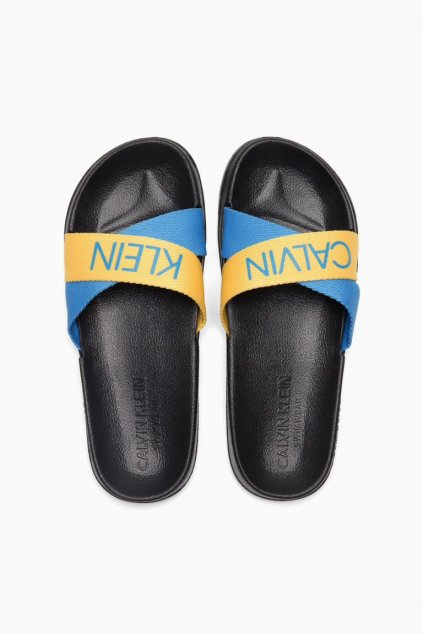 Calvin Klein pantofle - maldive blue/ mari gold