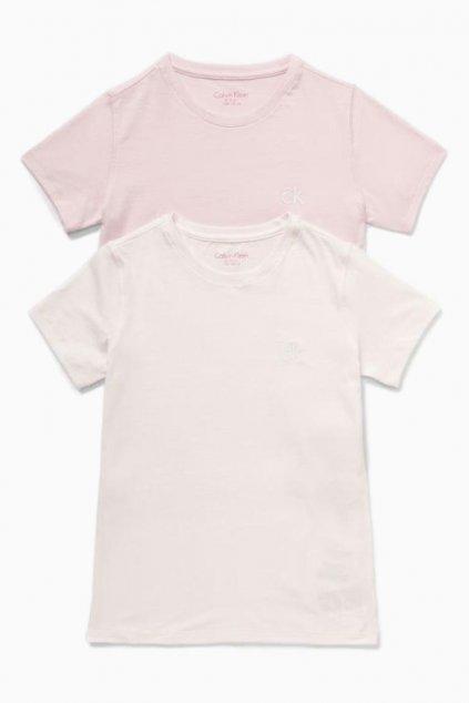 PRO DĚTI! Calvin Klein 2 balení Triček - růžová