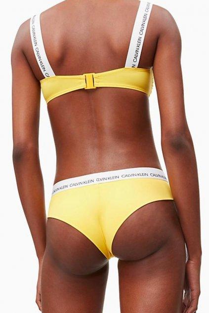 Calvin Klein hipster brazilky plavky spodní díl - habanero gold