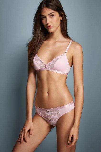 Emporio Armani Deluxe Cotton Podprsenka - candy pink