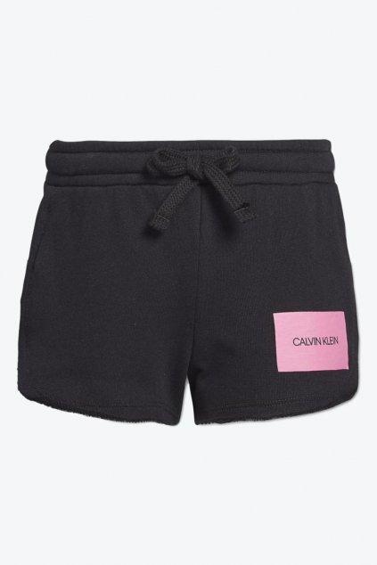 PRO DĚTI! Calvin Klein dívčí šortky - černá/růžová