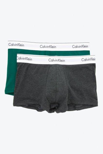 Calvin Klein Boxerky 2-balení - šedá/zelená
