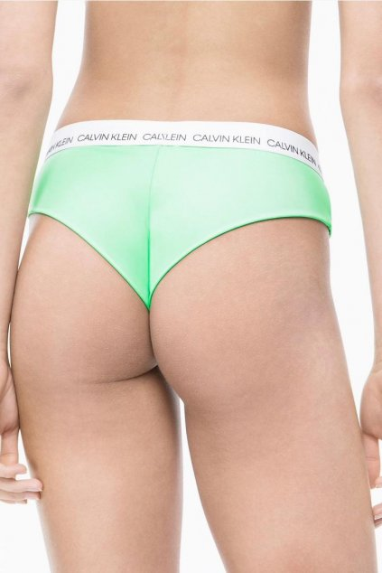 Calvin Klein hipster brazilky plavky spodní díl - spring green
