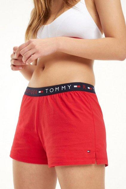 Tommy Hilfiger kraťásky na spaní - tango red