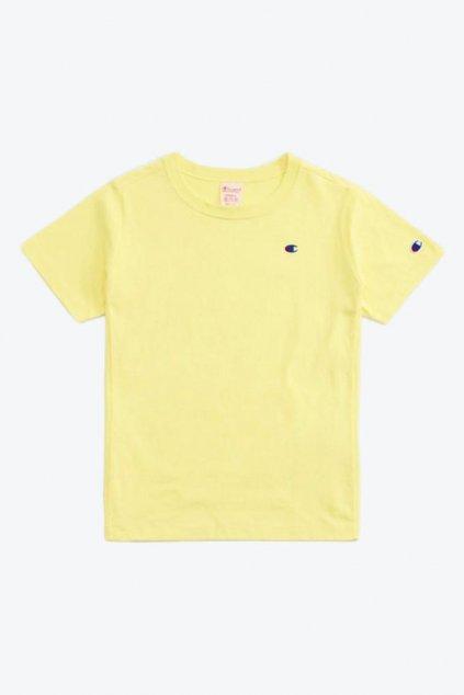 Champion Premium tričko small logo - žluté
