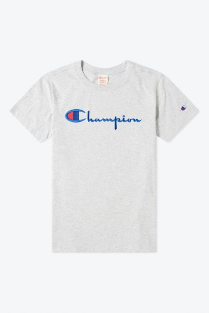 Champion Premium tričko large logo - šedá
