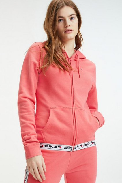 Tommy Hilfiger Side Logo Mikina - rose