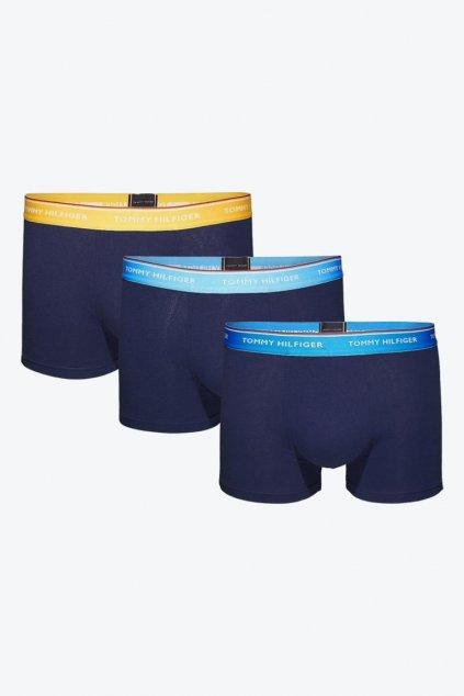 Tommy Hilfiger Boxerky Premium 3 balení - lemon/blue