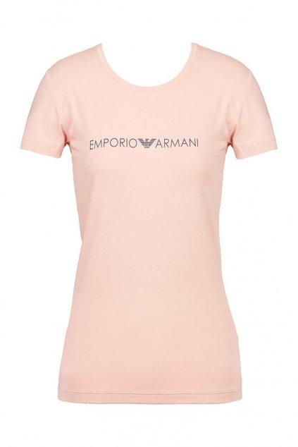 Emporio Armani iconic tričko - misty rose