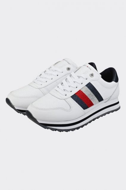 Tommy Hilfiger Crystal Sneakers - white