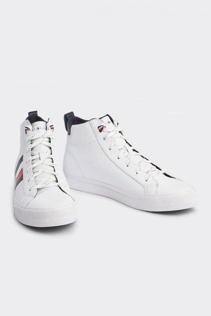 Tommy Jeans pánské kotníčkové sneakers - bílé