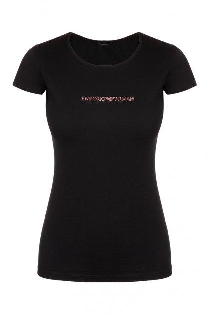 Emporio Armani Visibility cotton tričko - černé
