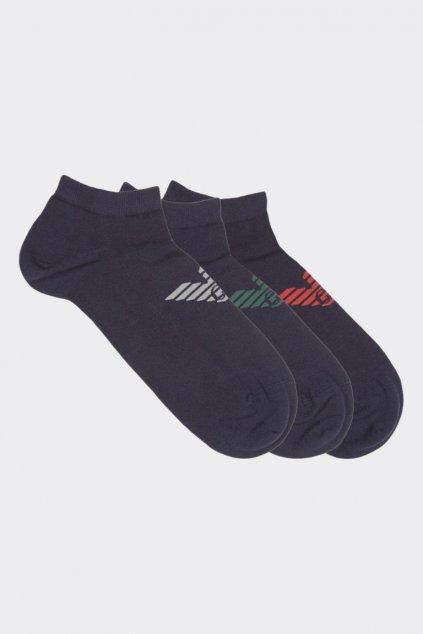 Emporio Armani pánské ponožky 3-balení - tmavě modré