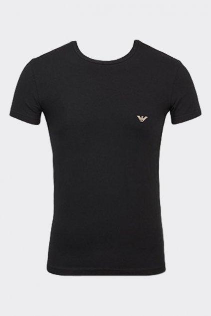 Emporio Armani pánské tričko Big Logo - černé